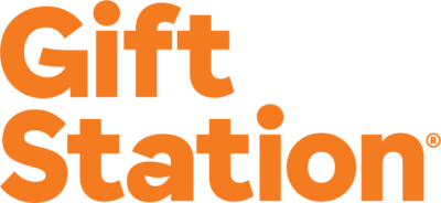GiftStation Logo Orange CMYK Stacked